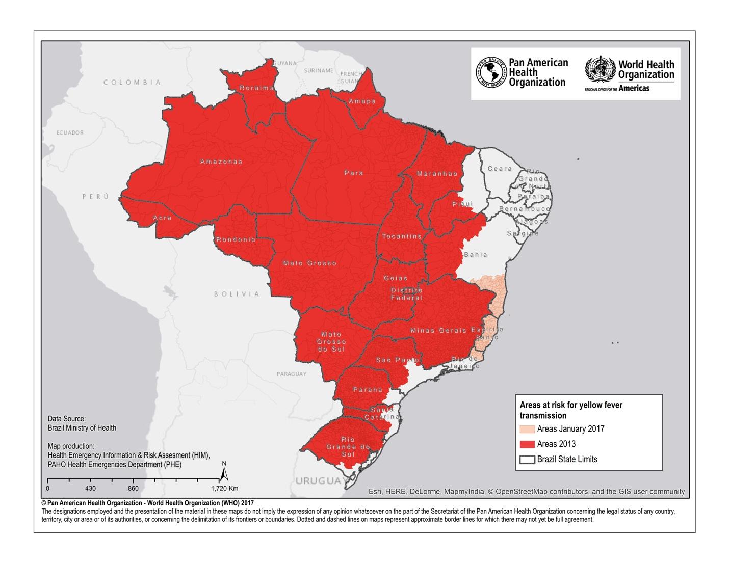 27-january-2017-yellow-fever-risk-map-brazil - Dr. med ...